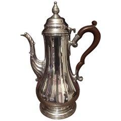 Coffee / Chocolate Pot, Silver Plated, English