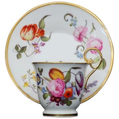 Coffee Cup and Saucer Nantgarw Porcelain, circa 1815
