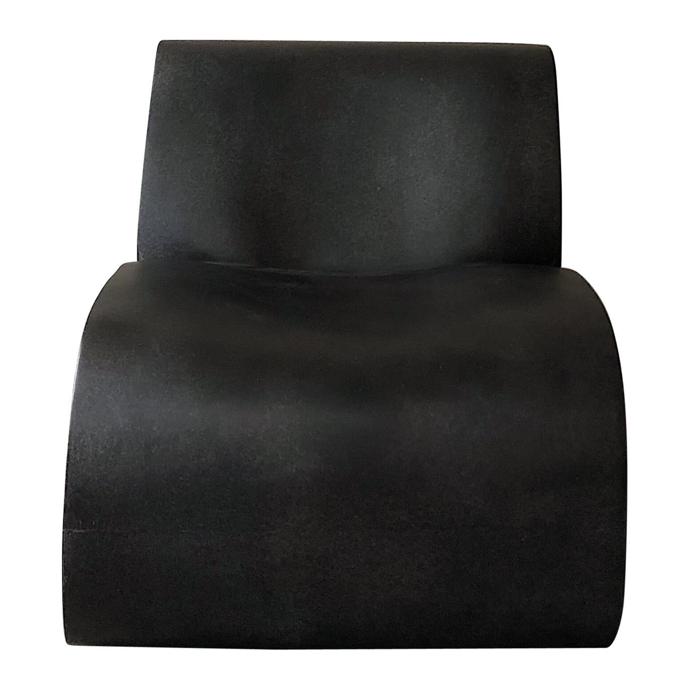 Coffee Curl Up Lounge Chair by Karstudio