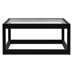 GHYCZY Coffee or Side Table Embassy Kirk T83 Charcoal, Clear Glass