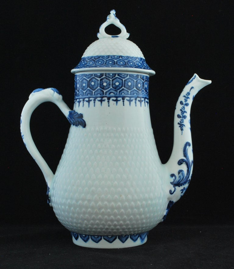 English Coffee Pot, Bow Porcelain Factory, circa 1767 For Sale