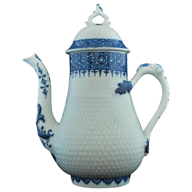 Coffee Pot, Bow Porcelain Factory, circa 1767 For Sale