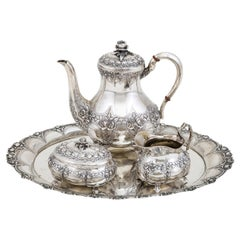 *H Coffee Service, Dutch, Late 19th Century, Silver 835