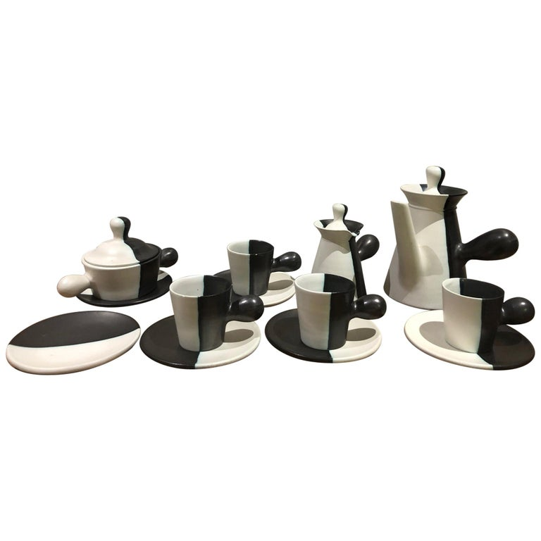 Coffee Set by Atelier Cerenne Vallauris For Sale