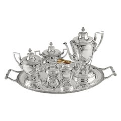 Coffee Set with Four Pieces and Tray