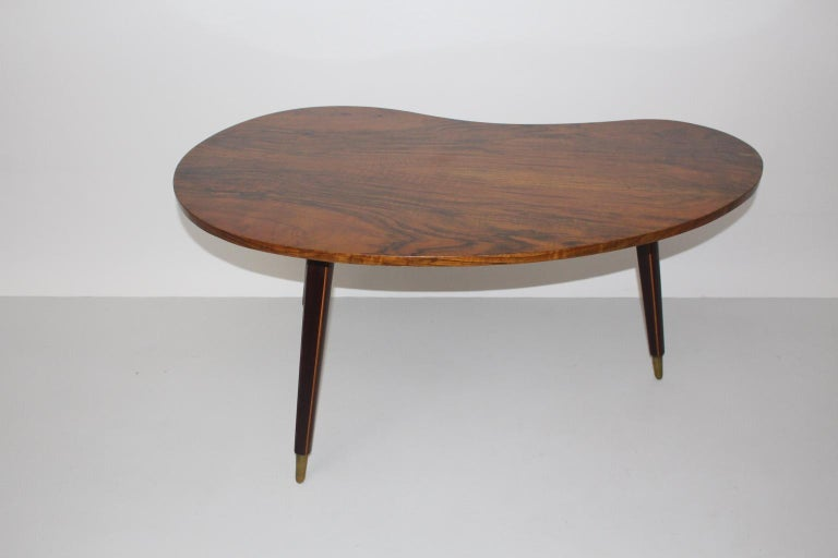 Mid Century Modern Vintage Coffee Table 1950s Vienna In Good Condition For Sale In Vienna, AT