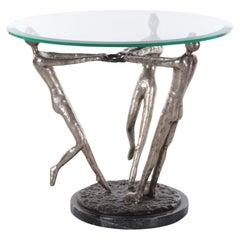 Coffee Table 3 Virgins Modern Design Artwork of Women Made of Bronze,1970