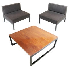 Coffee Table and Two '2' Armchairs by Wim Den Boon, Netherlands, 1958