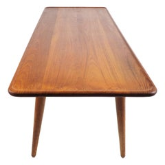 Coffee Table AT-11 in Massive Teak by Hans Wegner for Andreas Tuck, Denmark