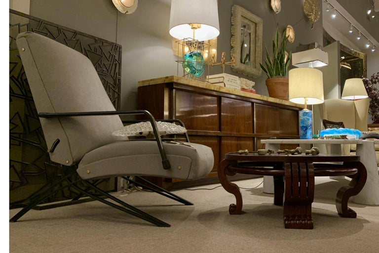 Mid-Century Modern Coffee Table Attributed Jean-Charles Moreux, France Art Moderne, circa 1940 For Sale