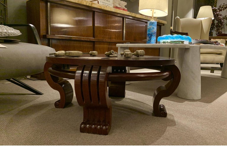 French Coffee Table Attributed Jean-Charles Moreux, France Art Moderne, circa 1940 For Sale