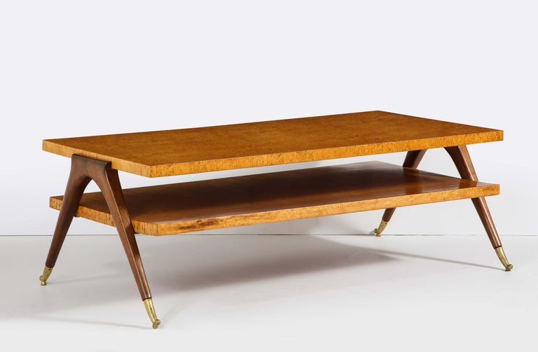 Mid-Century Modern Coffee Table Attributed to Osvaldo Borsani For Sale