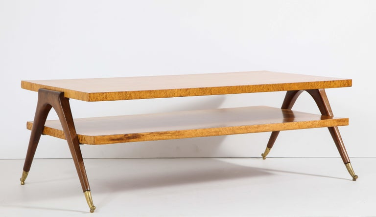 Coffee Table Attributed to Osvaldo Borsani In Fair Condition For Sale In New York, NY