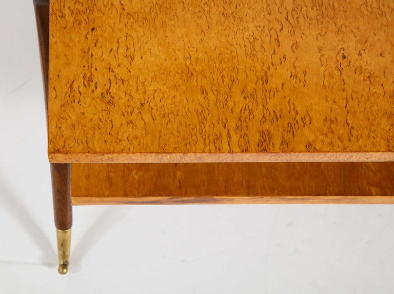 Brass Coffee Table Attributed to Osvaldo Borsani For Sale