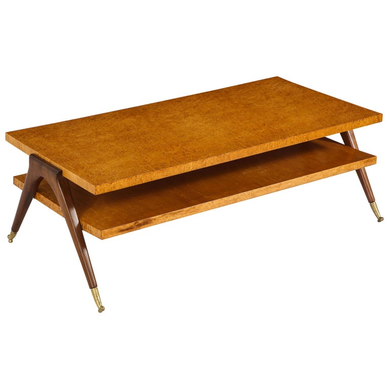 Coffee Table Attributed to Osvaldo Borsani For Sale
