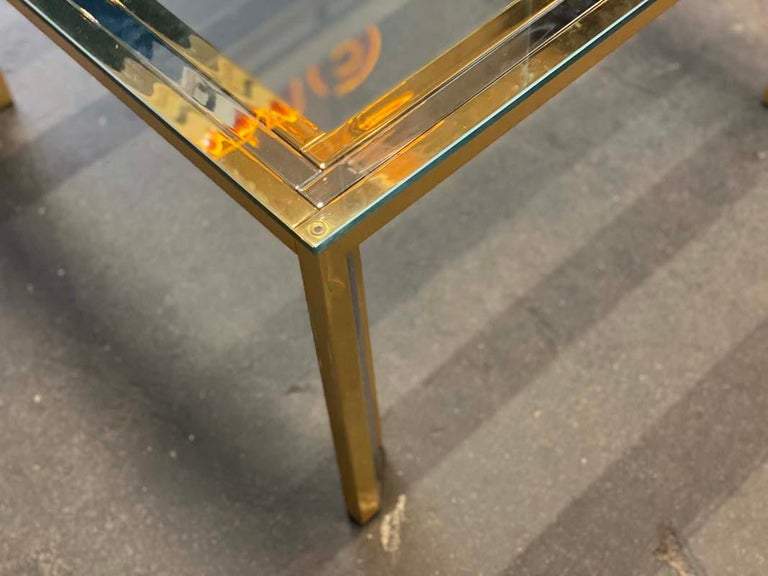 Coffee Table Bicolore by Willy Rizzo, Italy, 1970s For Sale 4