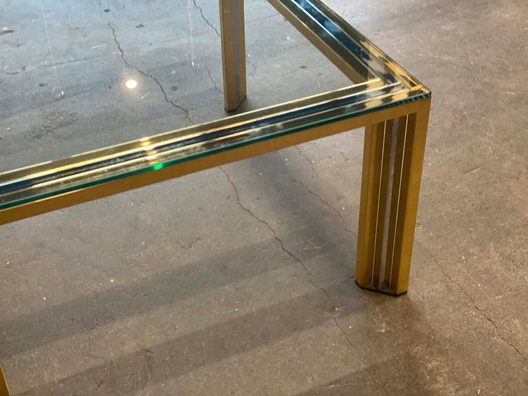 Coffee Table Bicolore by Willy Rizzo, Italy, 1970s For Sale 5
