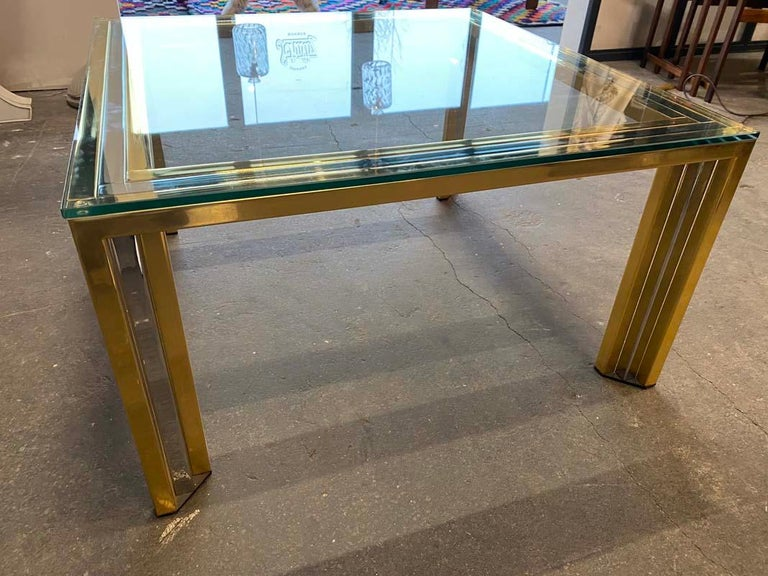 Coffee Table Bicolore by Willy Rizzo, Italy, 1970s For Sale 7