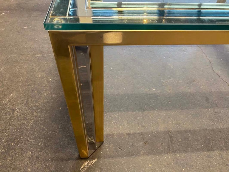Coffee Table Bicolore by Willy Rizzo, Italy, 1970s For Sale 8