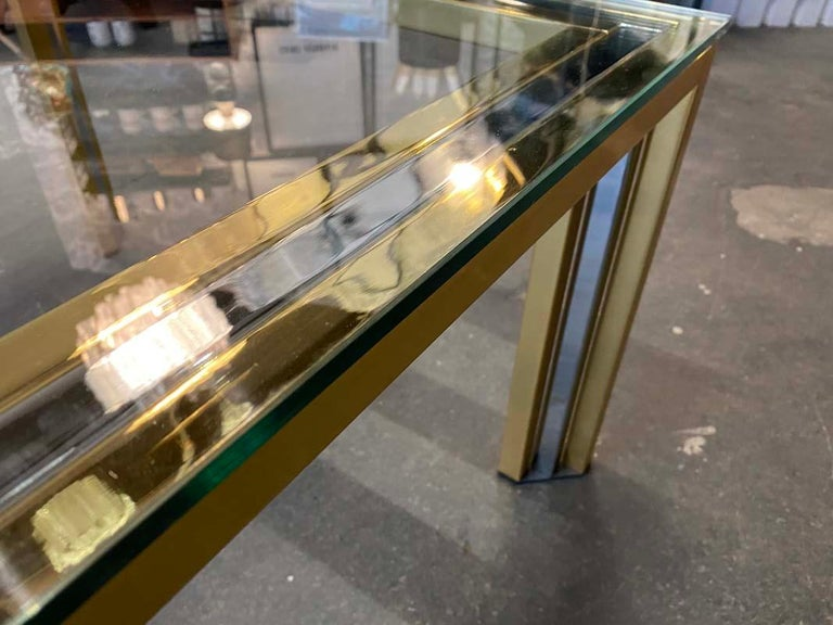 Coffee Table Bicolore by Willy Rizzo, Italy, 1970s For Sale 9