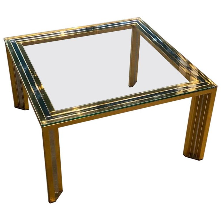 Coffee Table Bicolore by Willy Rizzo, Italy, 1970s For Sale