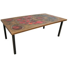 Coffee Table, Brass and Ceramic, 1968