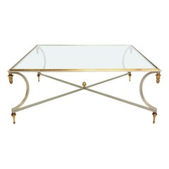 Coffee Table Bronze Neoclassical Style of Maison Jansen Hollywood Regency
