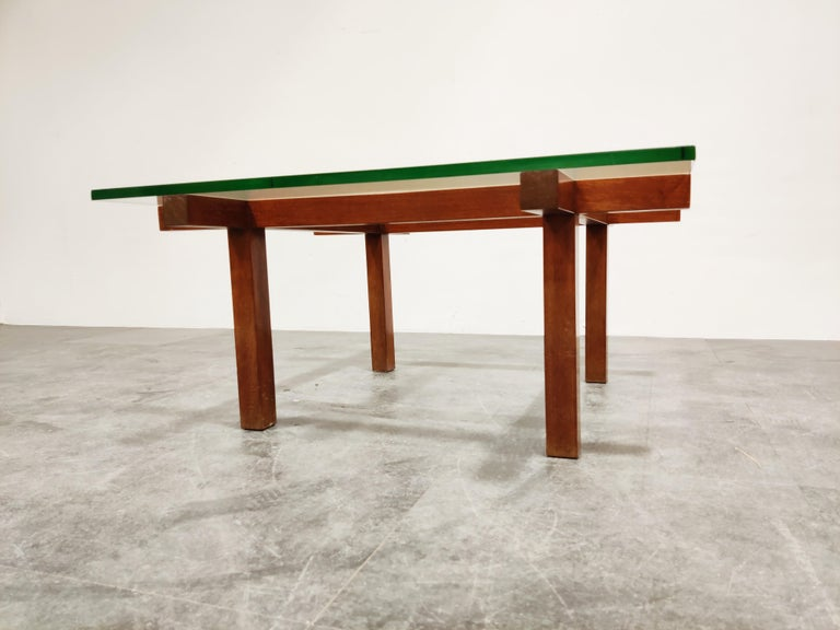 Minimalist Coffee Table by Alfred Hendrickx for Belform, 1960s For Sale