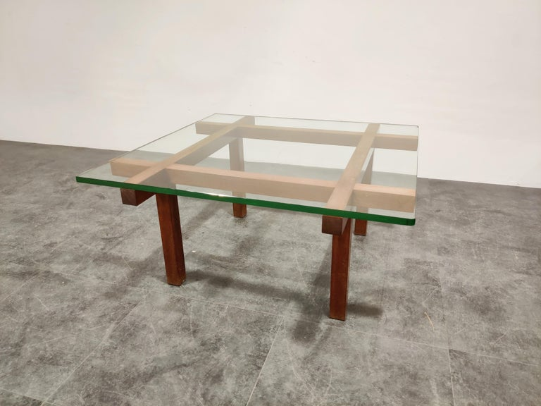 Belgian Coffee Table by Alfred Hendrickx for Belform, 1960s For Sale