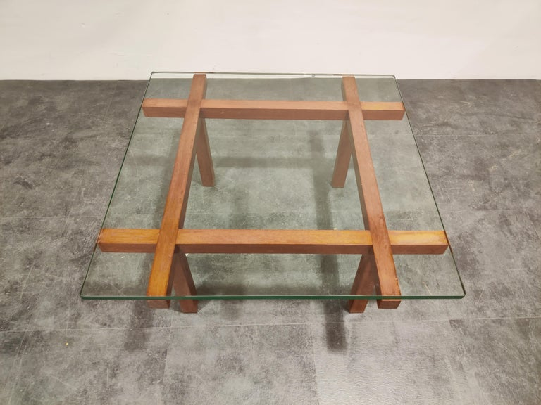 Coffee Table by Alfred Hendrickx for Belform, 1960s In Good Condition For Sale In Ottenburg, BE