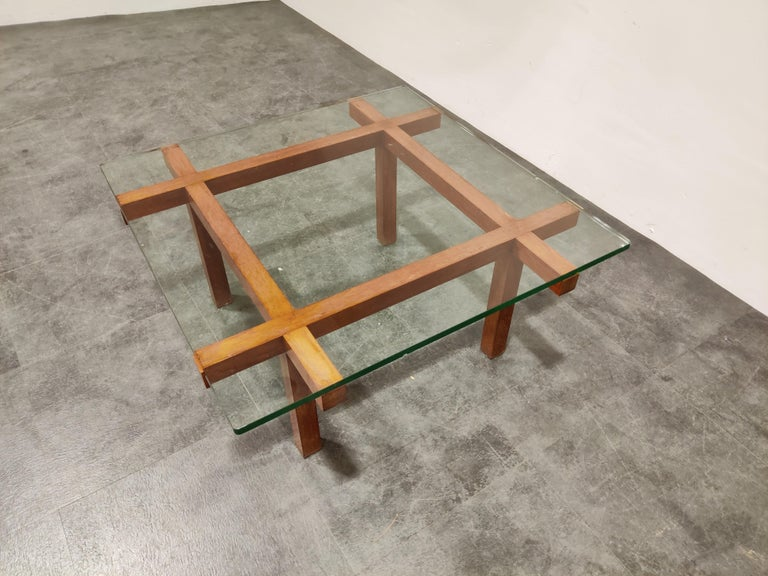 Mid-20th Century Coffee Table by Alfred Hendrickx for Belform, 1960s For Sale