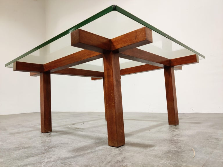 Coffee Table by Alfred Hendrickx for Belform, 1960s For Sale 1