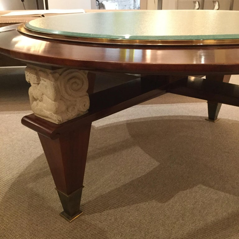 Mid-Century Modern Coffee Table by Dominique, France, 1940's For Sale