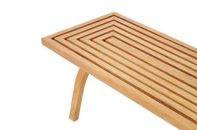 Oak Coffee Table by Edward Durell Stone For Sale