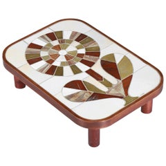 Coffee Table by French Ceramist Roger Capron in the Shape of a Flower