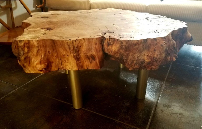 Mid-Century Modern Coffee Table by Gimo Fero in Style of Gorge Nakashima  For Sale