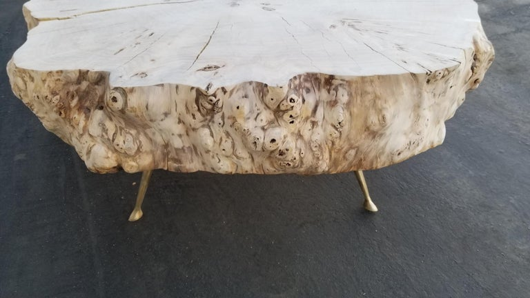 Italian Coffee Table By Gimo Fero in Style of Gorge Nakashima For Sale