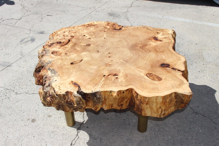 Coffee Table by Gimo Fero in Style of Gorge Nakashima  In Good Condition For Sale In Los Angeles, CA