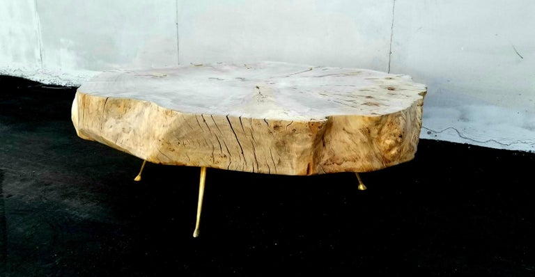 Late 20th Century Coffee Table By Gimo Fero in Style of Gorge Nakashima For Sale