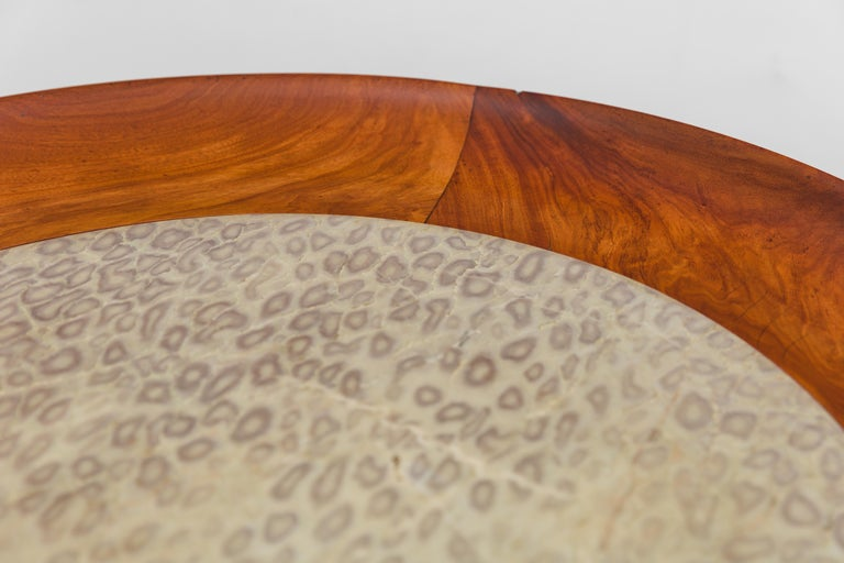 Hand-Carved Coffee Table by Giuseppe Scapinelli, Brazilian Mid-Century Modern Design For Sale