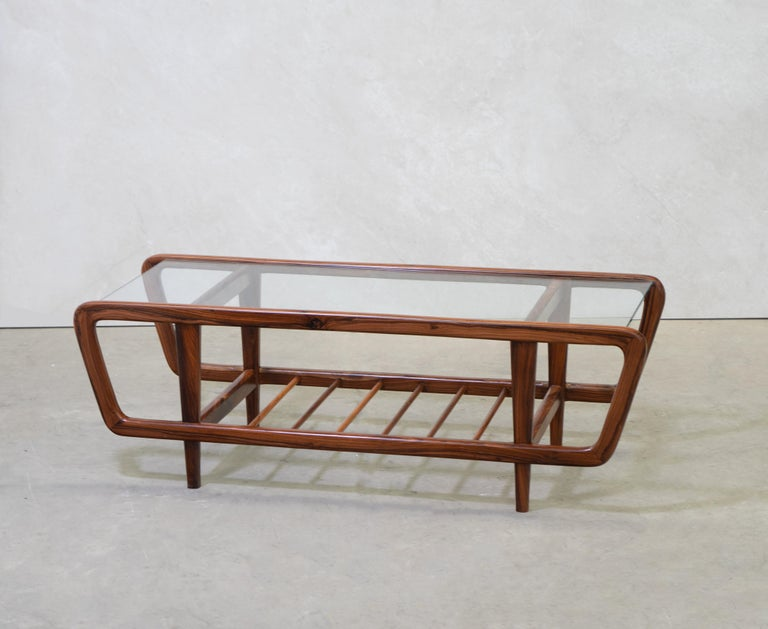 Hand-Carved Coffee Table by Giuseppe Scapinelli, Brazilian Mid Century ModernDesign For Sale