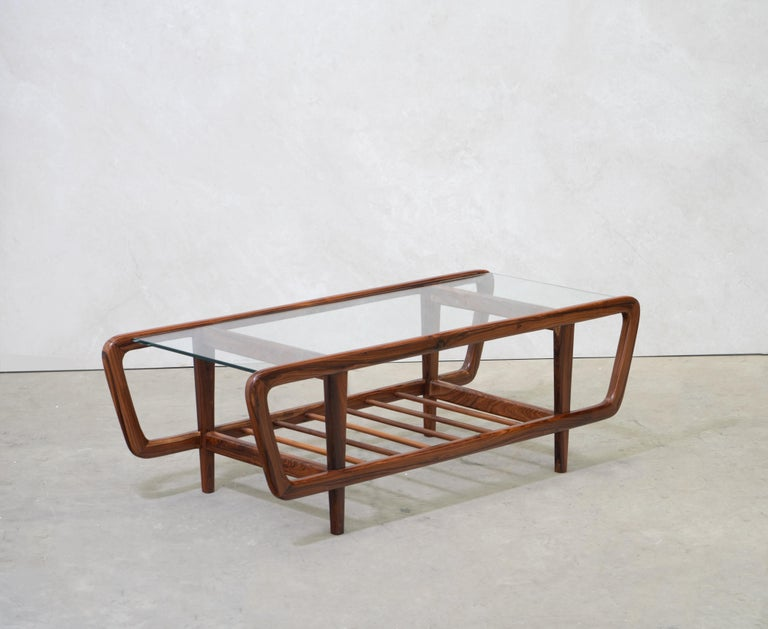 Coffee Table by Giuseppe Scapinelli, Brazilian Mid Century ModernDesign For Sale 2
