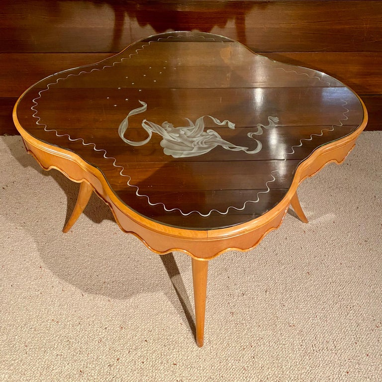 Italian Coffee Table by Paolo Buffa, Italy, 1950's For Sale