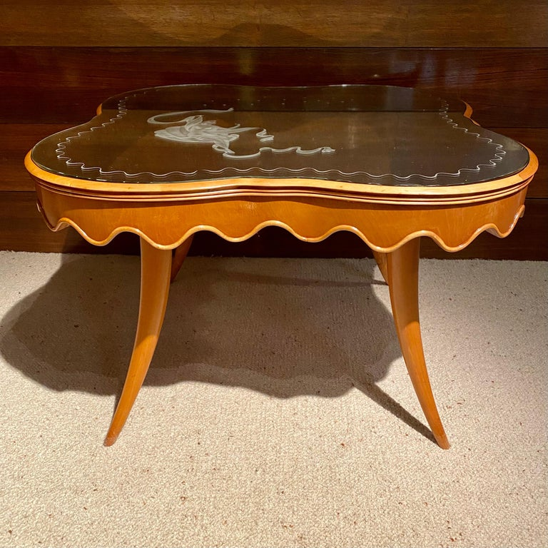 Mid-20th Century Coffee Table by Paolo Buffa, Italy, 1950's For Sale
