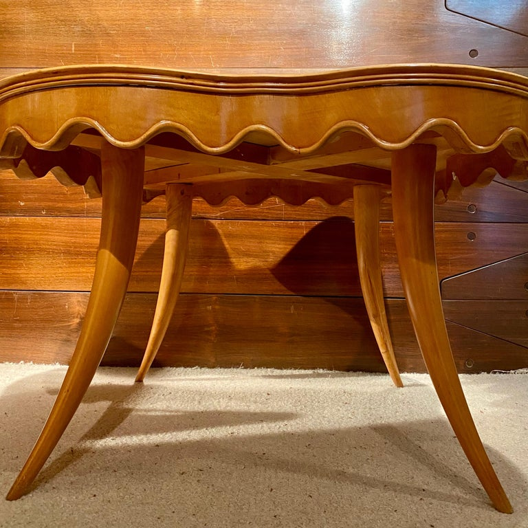 Mirror Coffee Table by Paolo Buffa, Italy, 1950's For Sale