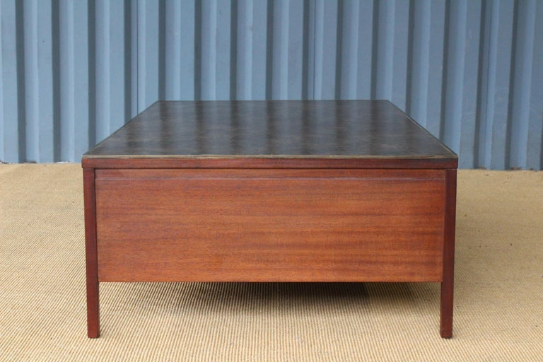 Brass Coffee Table by Paul McCobb for Calvin, USA, 1950s For Sale