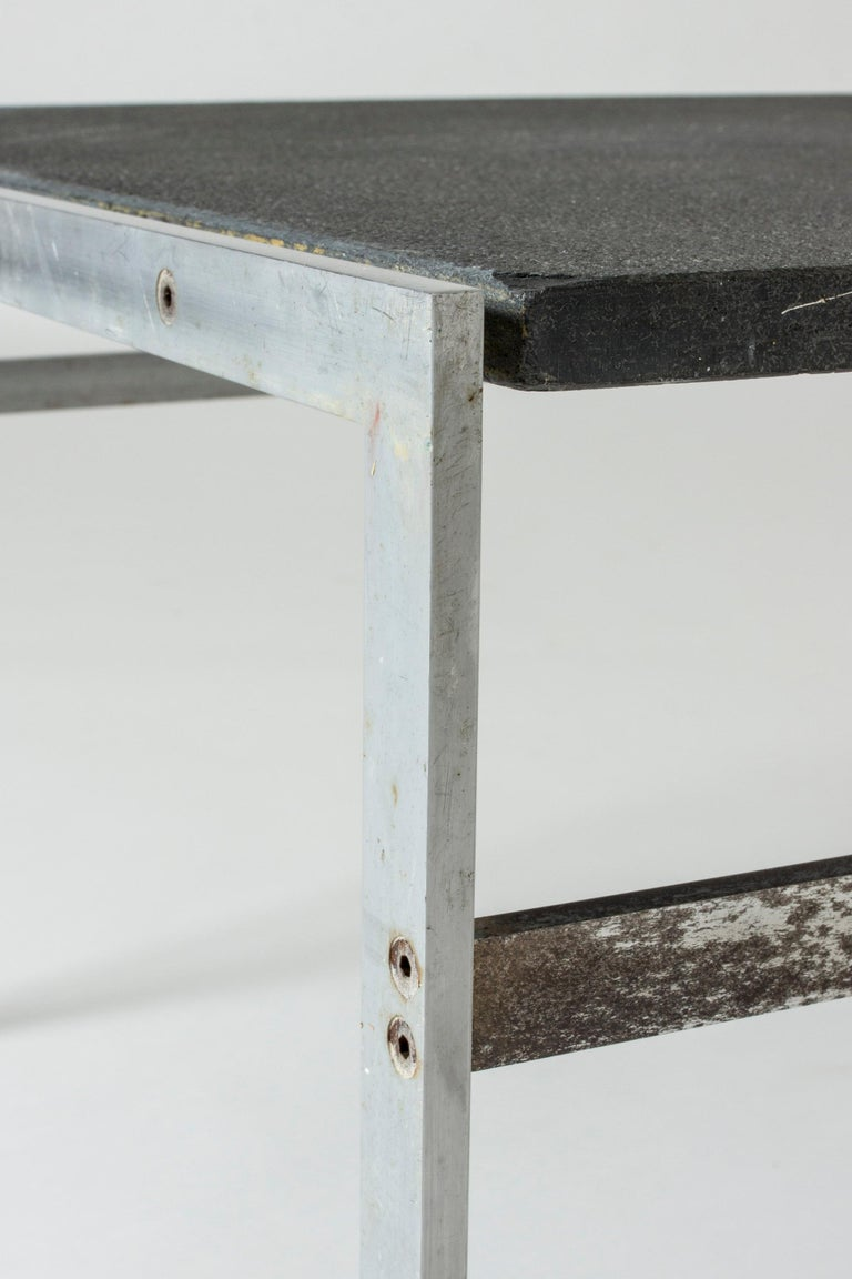 Steel Coffee Table by Preben Fabricius & Jørgen Kastholm for Bo-Ex, Denmark, 1960s For Sale
