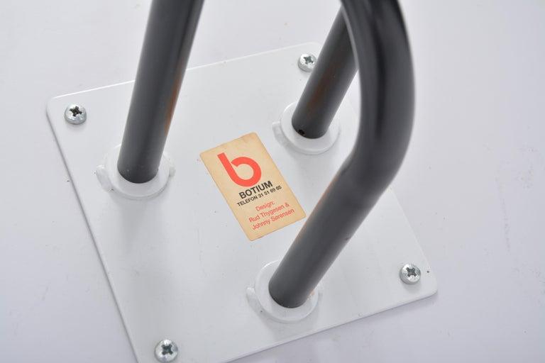 Steel Danish Post-Modern side table by Rud Thygesen and Johnny Sorensen for Botium