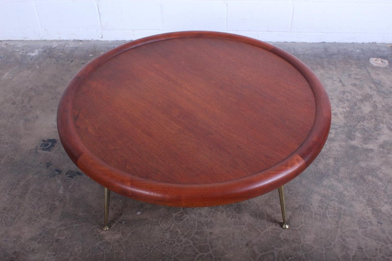 Walnut Coffee Table by T.H. Robsjohn-Gibbings for Widdicomb For Sale