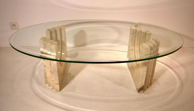 Mid-Century Modern Coffee Table Attributed to Tobia Scarpa For Sale
